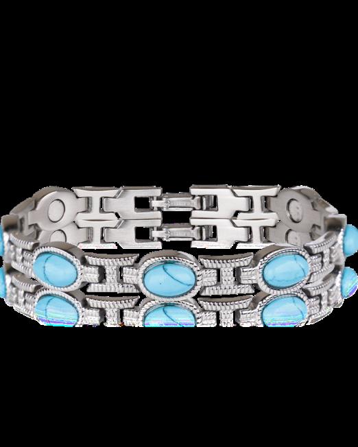 Bracelet femme avec les gemmes turquoises