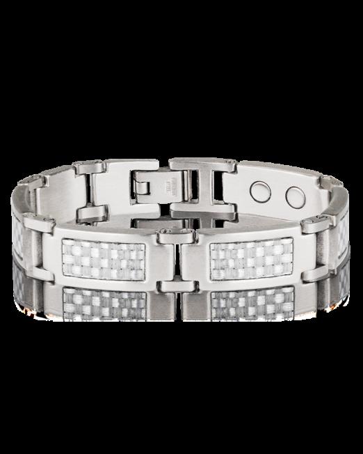 Bracelet Inox Fibre de Carbone