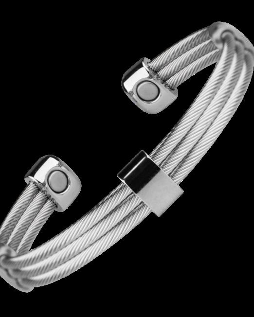 Bracelet Cable Gris pour Homme