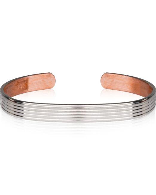 Bracelet cuivre plaque argent