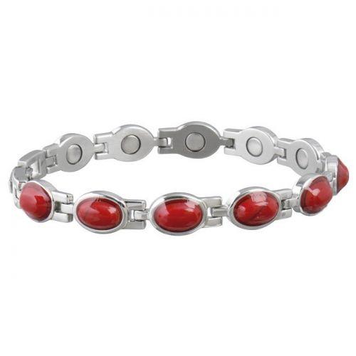 Sabona Ladies Red Gem Bracelet